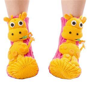 3D Cartoon Animal Woolen Knitted Socks, Household Socks, Comfortable Socks, Christmas Socks, #HG12112
