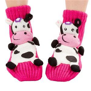 3D Cartoon Animal Woolen Knitted Socks, Household Socks, Comfortable Socks, Christmas Socks, #HG12114