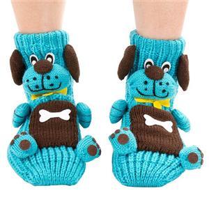 3D Cartoon Animal Woolen Knitted Socks, Household Socks, Comfortable Socks, Christmas Socks, #HG12115
