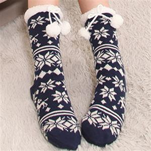 Woolen Knitted Socks, Household Socks, Comfortable Socks, Thick Stockings, Winter Socks, Slipper Socks, #HG12118