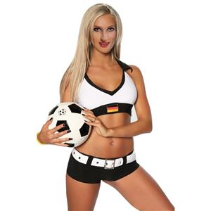 World Cup Plastic Costumes, Germany Soccer Short Set, Germany Sports Short Set, #N8012