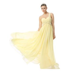 Yellow Prom Dresses, Prom Dresses for Cheap, Girls One-shoulder Dresses, Graduation Dresses, Fancy Yellow Dress, New 2015 Dresses, #F30021