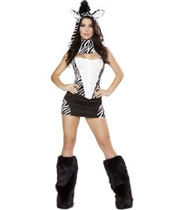 Zebra Halloween Costume, Zebra Costume, Zebra Print Costumes, #N4758