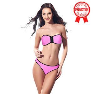 Zipper Strapless Bikini Set BK8843