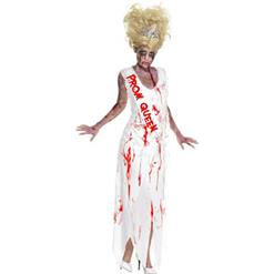 Horror Costume, Halloween Costume with Blood, Zoombie Prom Queen Costume, Scary Costume, Women