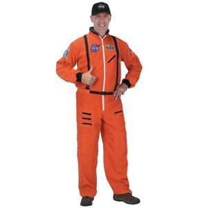 astronaut costume, Adult Astronaut Suit Orange Adult Costume, NASA Astronaut Suit in orange, #N6241