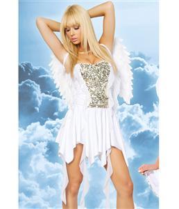 Heavenly Hottie Costume, White Angel Costume, Peaceful Angel Costume, #N1000