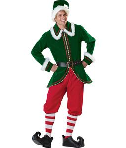 Adult Santa Elf Costume Elite, Super Deluxe Santa