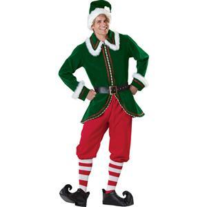 Adult Santa Elf Costume Elite, Super Deluxe Santa