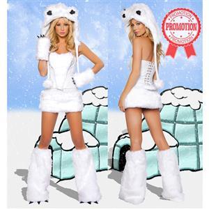 Sexy Polar Bear Costume, Adult Polar Bear Costume, Polar Bear Halloween Costume, #M1594