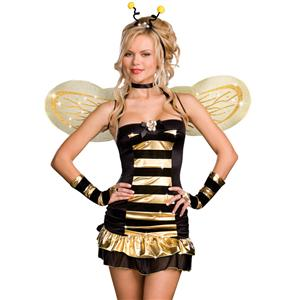 Sexy Bee Costume, Busy Bee Sexy Costume, Bee Halloween Costume, #N1701