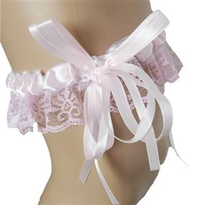 Pink Leg Garter, lingerie Pink Garter, sexy Lace Garter, #HG7386