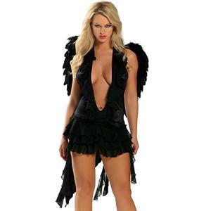 Dark Angel Costume, Naughty Dark Angel Costume, Dark Naughty Angel Costume, #N1380