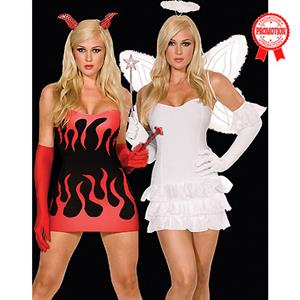 Sexy Fairy Costumes, Angel Costumes, Heavenly Angel Halter Dress with Curly Mesh, #N1704