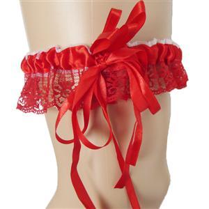 Red Leg Garter, lingerie Red Garter, sexy Lace Garter, #HG7387