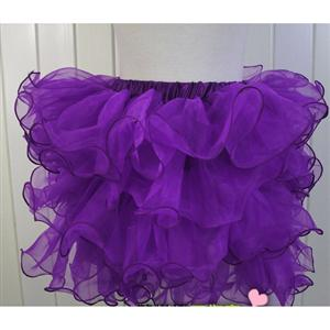 Purple Organza Skirt, Purple Petticoat, sexy Skirt, #HG3370