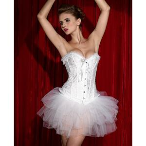 Embroidered Burlesque Corset & Pettiskirt, Corset & Pettiskirt, Embroidered Corset & Pettiskirt, #N1865