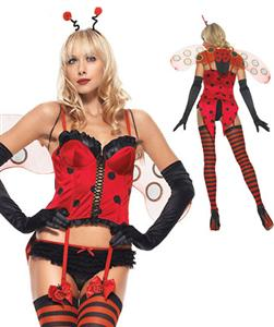 Sexy Ladybug Costumes, Sexy Lady Bug Costume, Tempting Lady Bug Costume, #N1167