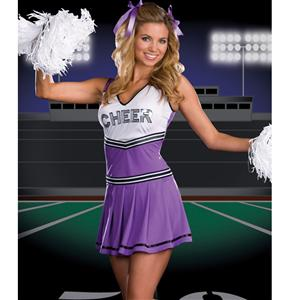 Sideline Spirit Costume, Purple Cheerleader Costume, Cheerleader Costume, #M1295