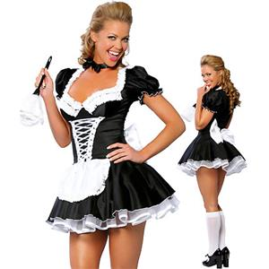 Sexy French Maid Costume, Naughty French Maid Costume, French Maid Outfit, #M1316
