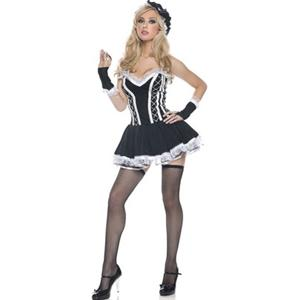 Sexy French Maid Costume, Adult Maid Halloween Costume, Naughty Maid Costume, #N1353
