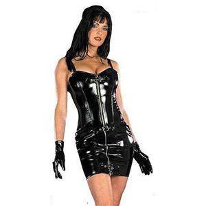 Women Leather Lingerie, sexy PVC Lingerie, Ladies Leather Lingerie, #M888