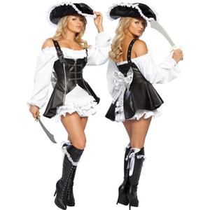 Pirate Maiden Costume, Pirate Maiden Halloween Costume, Adult Sexy Pirate Costume, #M1196