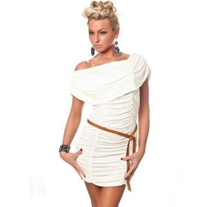 Cap Sleeve Ruched Mini Dress, Mini Dress, white Dress, #C2021