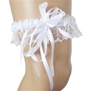 white Leg Garter, sexy lingerie Garter, Lace Garter, #HG7383