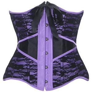 Steel Bone Underbust Corset, lace Steel Bone Corset, Burlesque Underbust Corset, #N1790