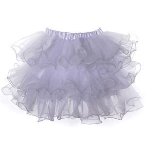 Organza Skirt, white Petticoat, sexy Petticoat, #HG3367