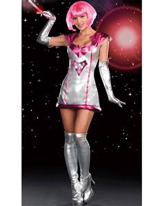 Lust In Space Costume, Space Girl Costume, Pink Alien Costume, #CP4180