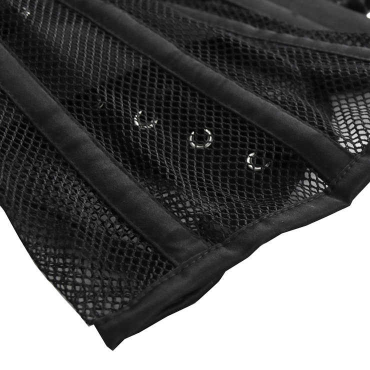 a9958635a03 Women s 16 Steel Boned Breathable Mesh Waist Training Corset Waspie ...