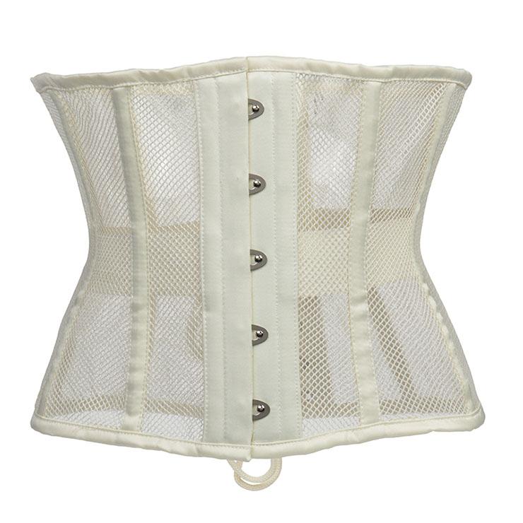 Women's 16 Steel Boned Breathable Mesh Waist Training Corset Waspie N20972