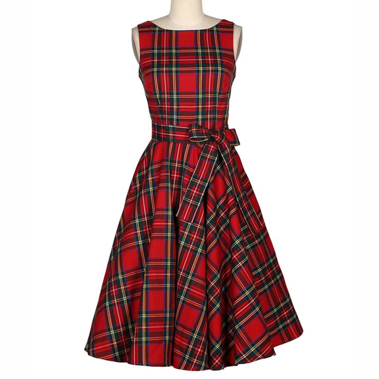 Vintage Red Garden Party Dresses