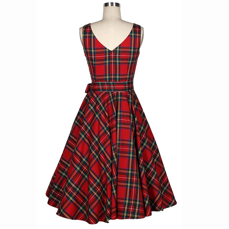 Spring Garden Party Picnic Dress, Party Cocktail Dress, Vintage Casual Retro Dress, Cotton Vintage Tea Dress, Party Swing Dress, #N20017