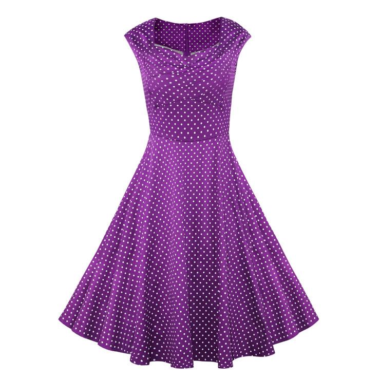 Vintage Purple Swing Dresses