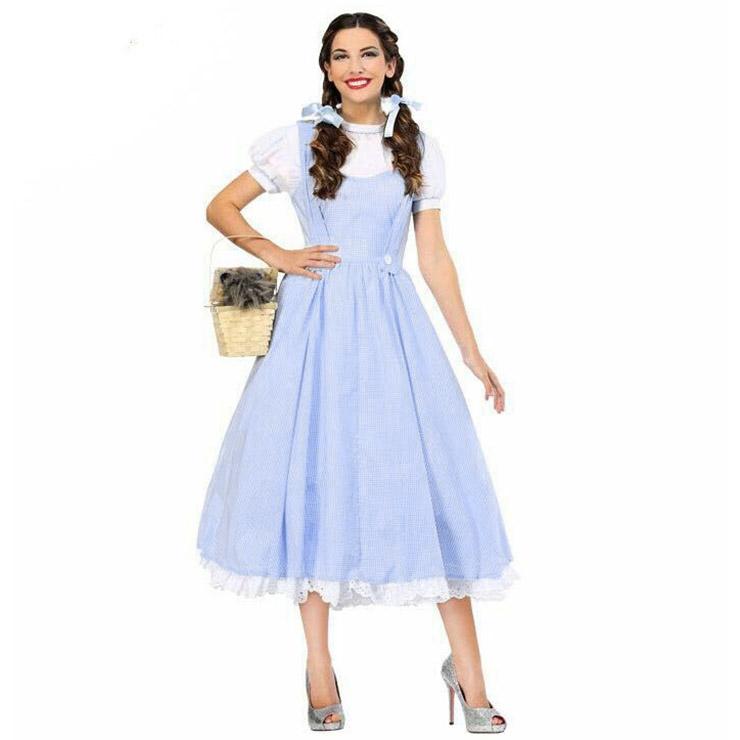 Women's Deluxe 2 Piece Kansas Girl Country Girl Cosplay Halloween Costume N16010