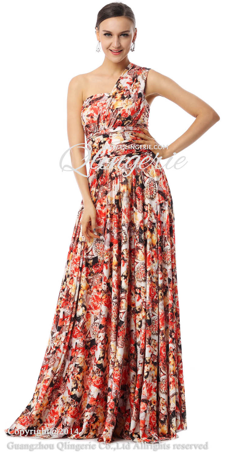 Unique Evening Dresses 2015, Floral Print Dresses, Used Formal Dress, Prom Dress For Cheap, Changeable Dresses, Maxi Dress, #F30001