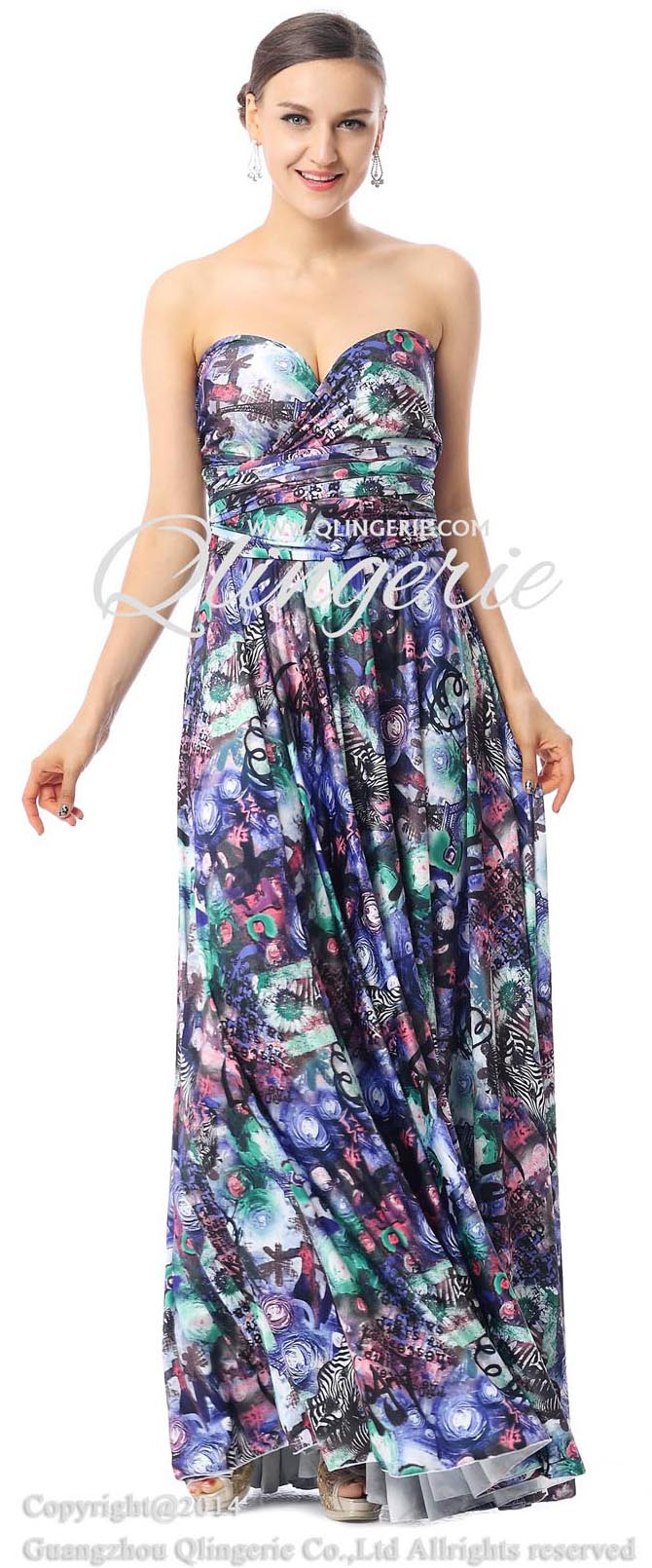 Floral Print Knit Dresses, Evening Dresses for Cheap, Women