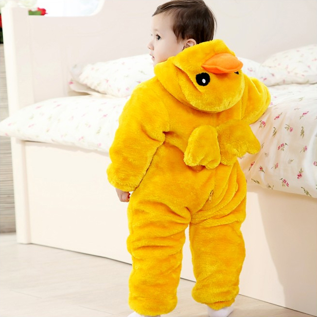 duck costume baby baby big yellow duck climbing clothes n6273