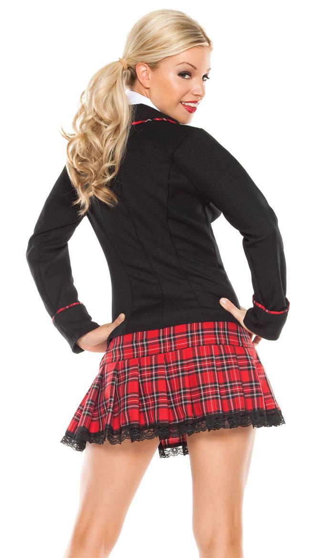 Not Fantasy plaid skirt sex