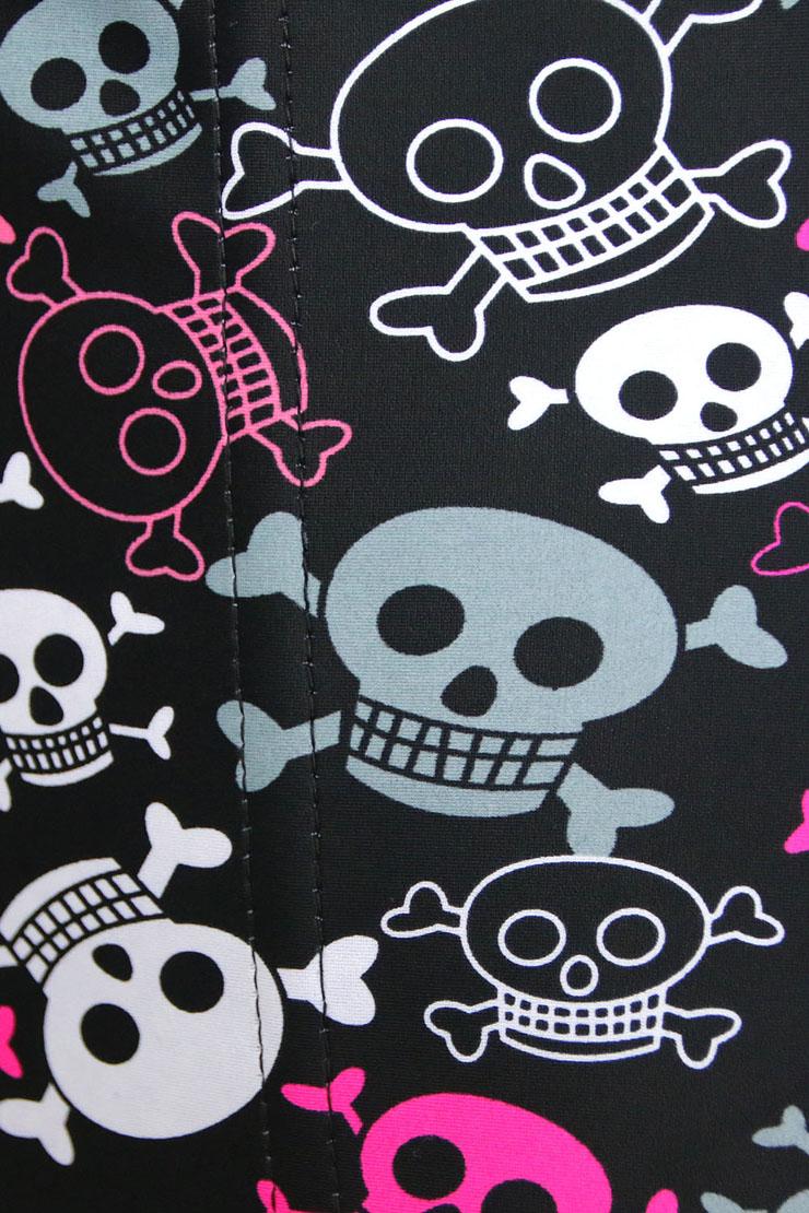 Steel Boned Underbust Corset, Sexy Skulls Print Corset, Waist Training Cincher Corset, Halloween Underbust Corset, Latex Corset, Plus Size Corset, Fashion Steel Boned Waist Trainer, Steel Boned Body Shaper, #N10635