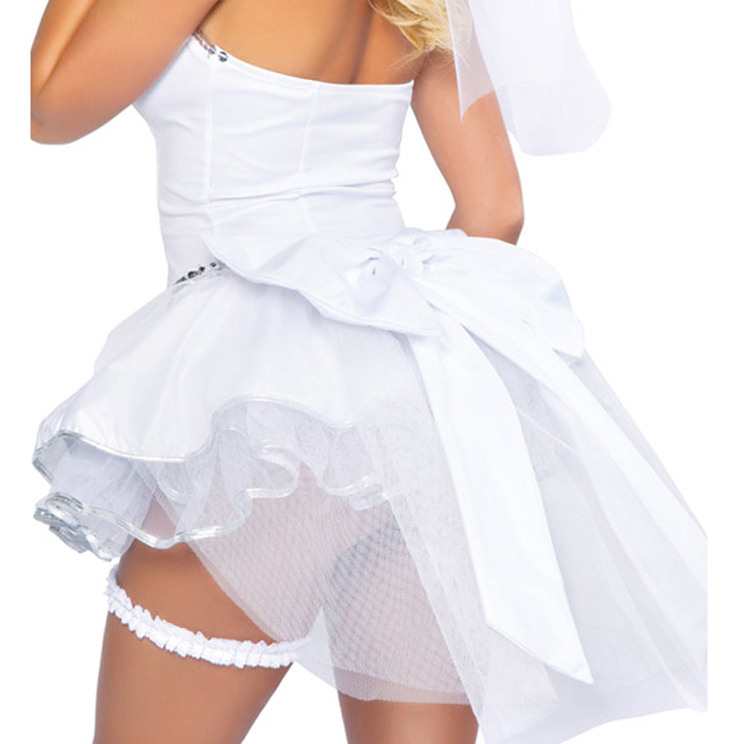 Adorable Bride Costume, Fantasy Angel Bride Costume, Sexy Heaven Sent Fantasy Angel Bride Costume, #N6213