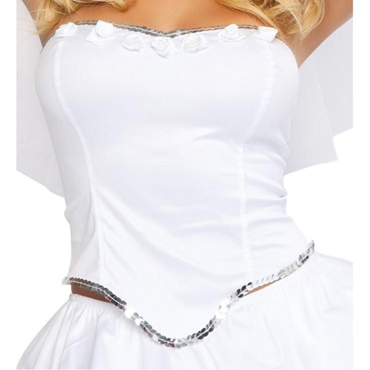 Adorable Bride Costume, Fantasy Angel Bride Costume, Sexy Heaven Sent Fantasy Angel Bride Costume, #N6213