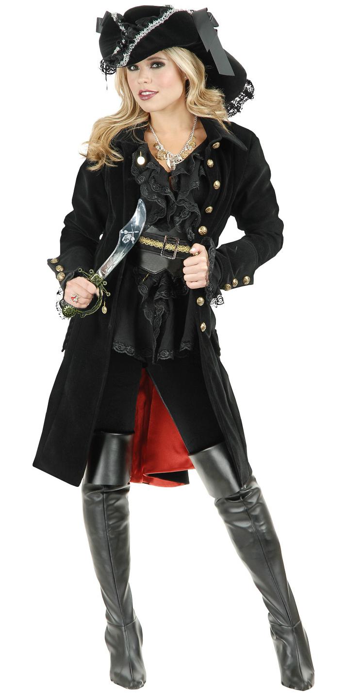 Adult Black Pirate Vixen Costume, Pirate Costume, Pirate Costumes Adults, #P4715