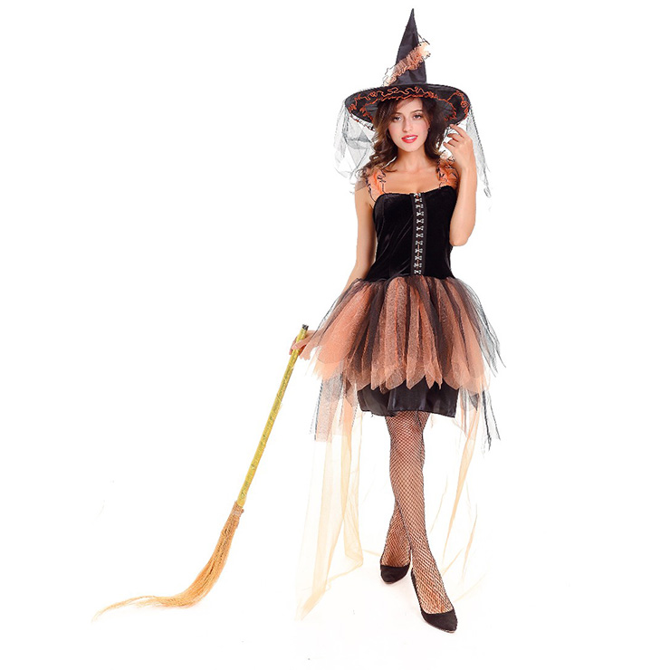 Womens Adult Black Witch Halloween Costume N14622