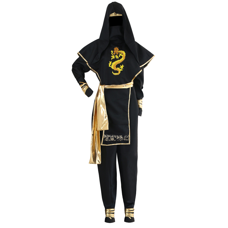 Ninja Warrior Elite Collection Adult Costume, Ninja Costume, Adult Ninja Warrior Costume Premier, #N6805