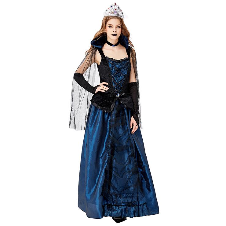 Elegant Adult Vampiress Queen Halloween Cosplay Costume N17739