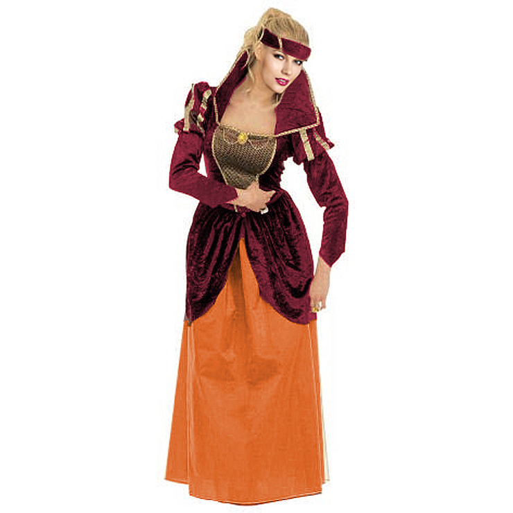 Women's Adult Renaissance Poor Long Sleeve Maxi Costume Outfit N5568